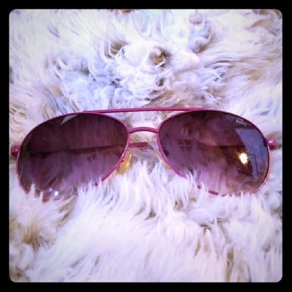 17cff1cd68c6 Betsey Johnson Accessories - Fuchsia Betsey Johnson Aviator Sunglasses